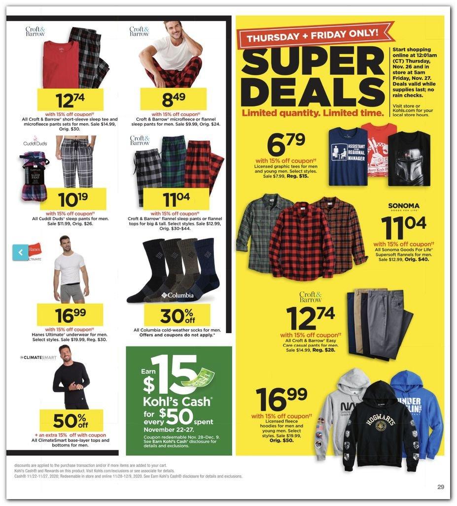 Kohl's Black Friday Super Deals 2020 Page 29