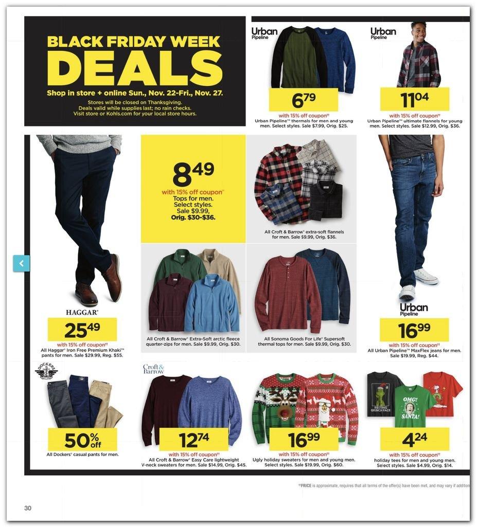 Kohl's Black Friday Super Deals 2020 Page 30