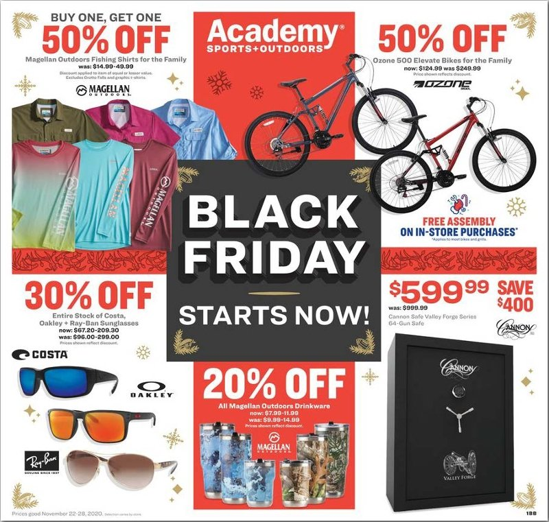 Academy Sports + Outdoors Black Friday 2020 Page 1