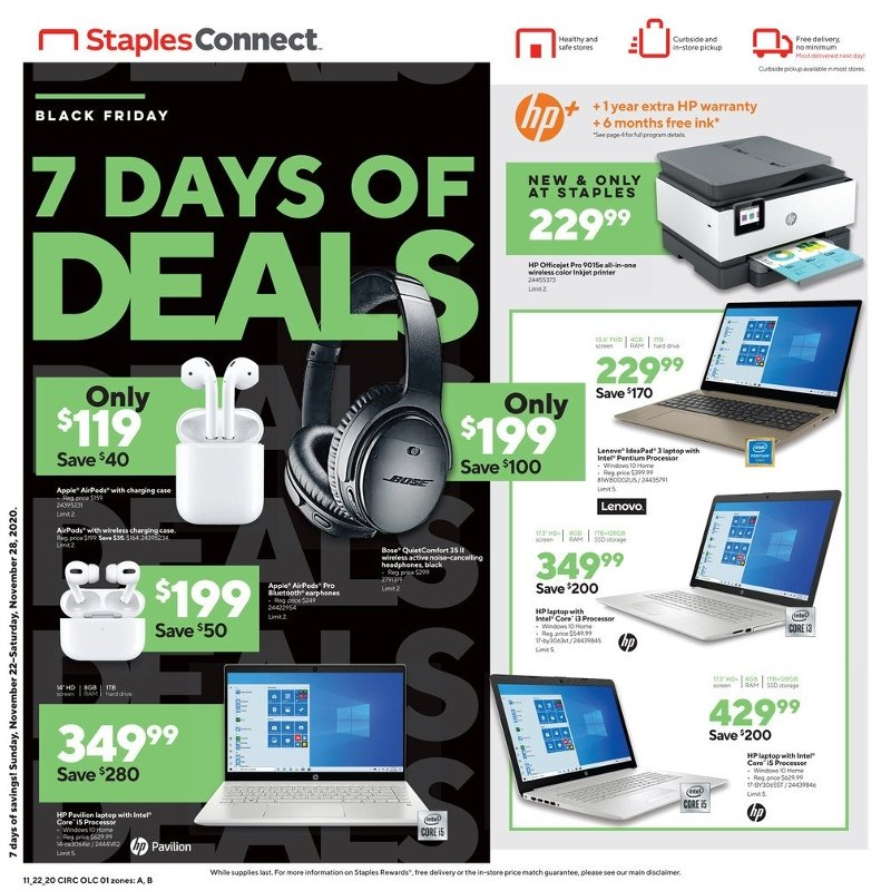 Staples Black Friday 2020 Page 1