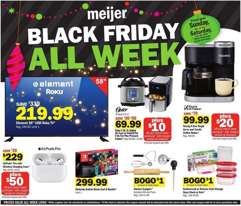 Meijer Black Friday 2020 Page 1