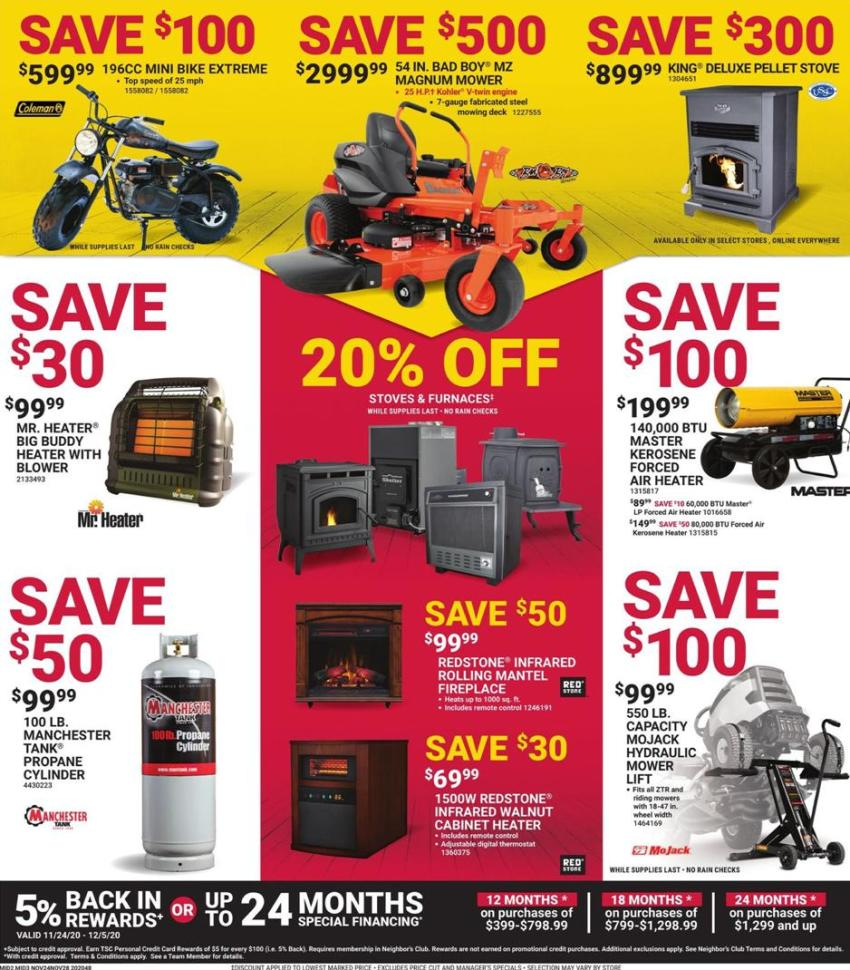 Tractor Supply Co. Black Friday 2020 Page 3