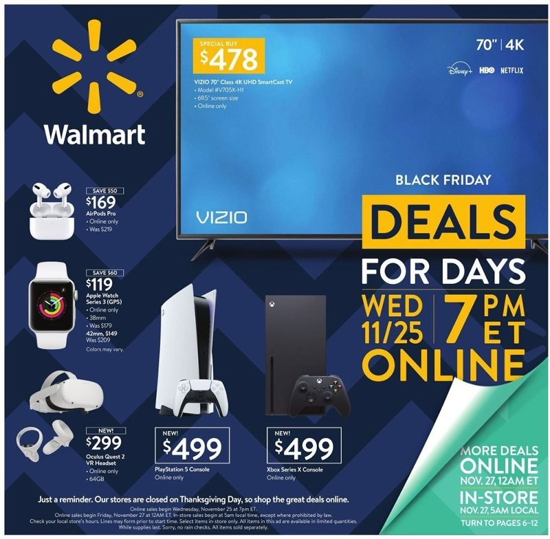 Walmart Black Friday 2020 Page 1