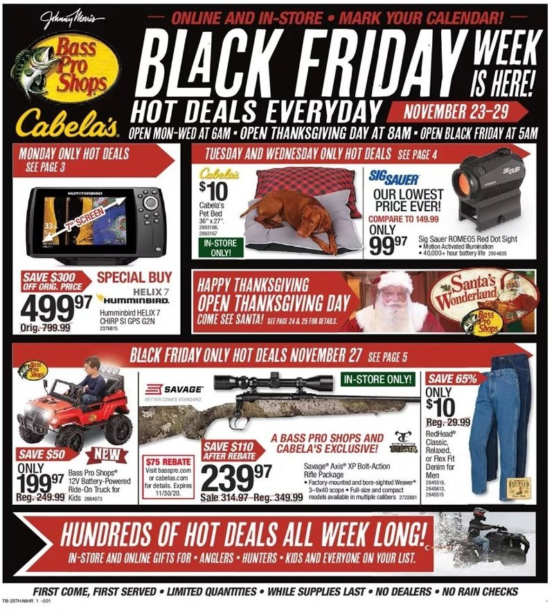 Bass Pro Shops Black Friday 2020 Page 1