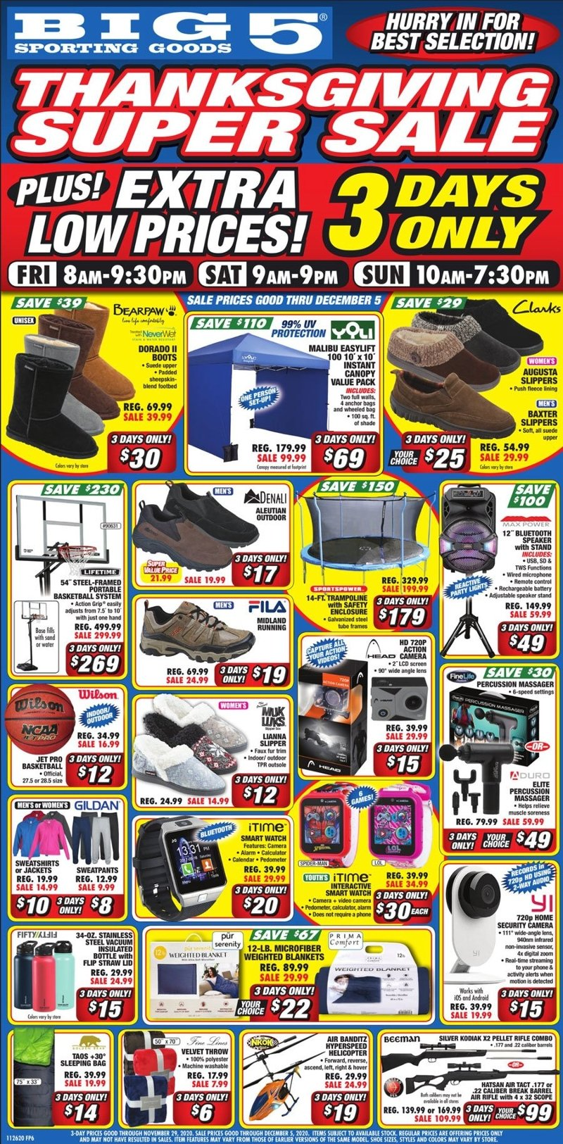 Big 5 Sporting Goods Black Friday 2020 Page 1