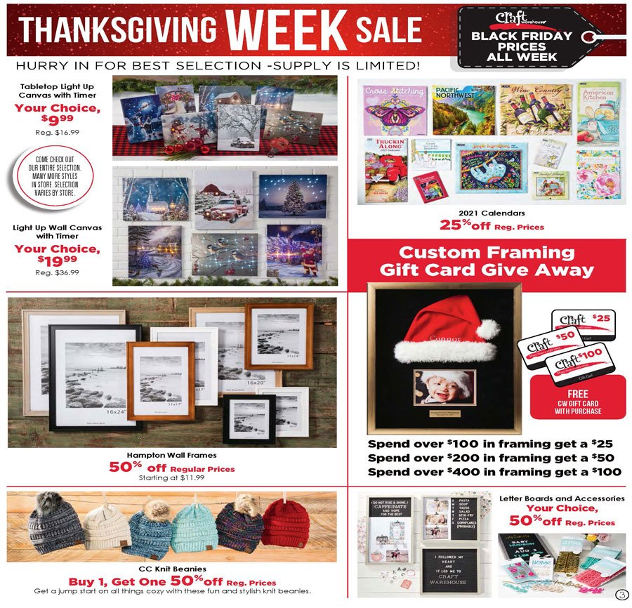 Craft Warehouse Black Friday 2020 Page 3