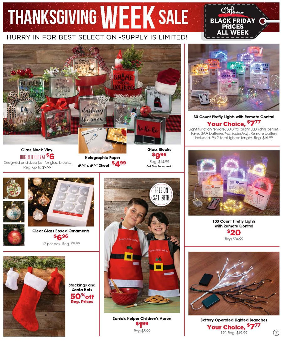 Craft Warehouse Black Friday 2020 Page 7