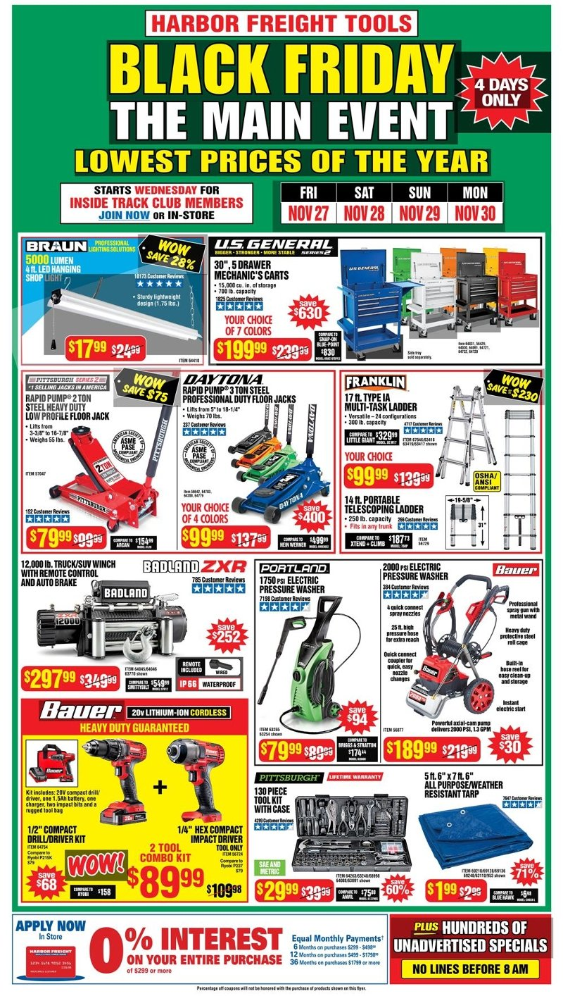 Harbor Freight Black Friday 2020 Page 1