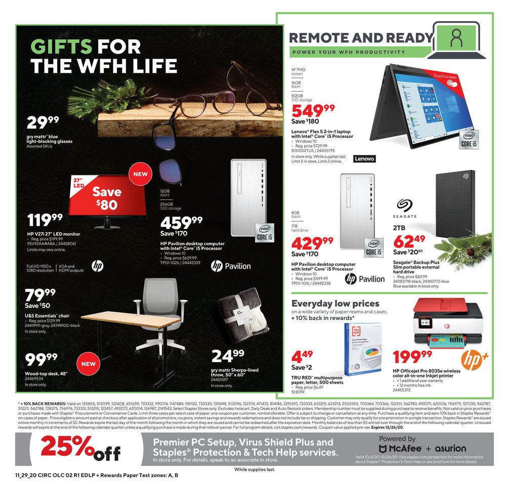 Staples Cyber Monday 2020 Page 2
