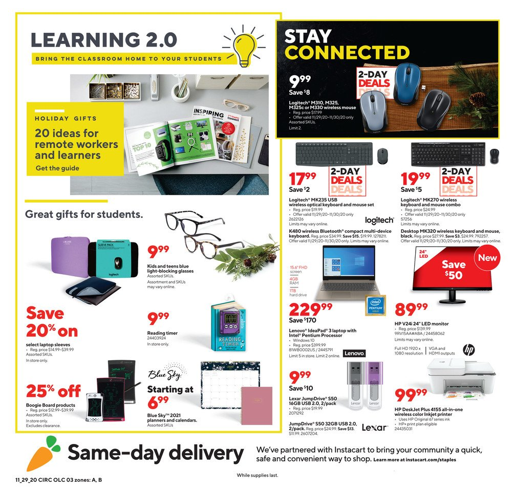 Staples Cyber Monday 2020 Page 3