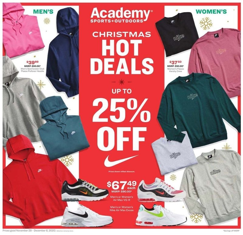 Academy Sports & Outdoors Cyber Monday 2020 Page 1