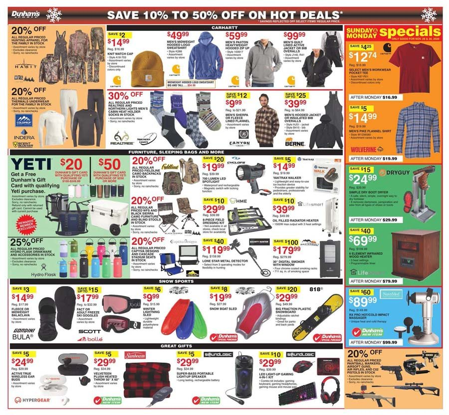 Dunham's Sports Cyber Monday 2020 Page 3