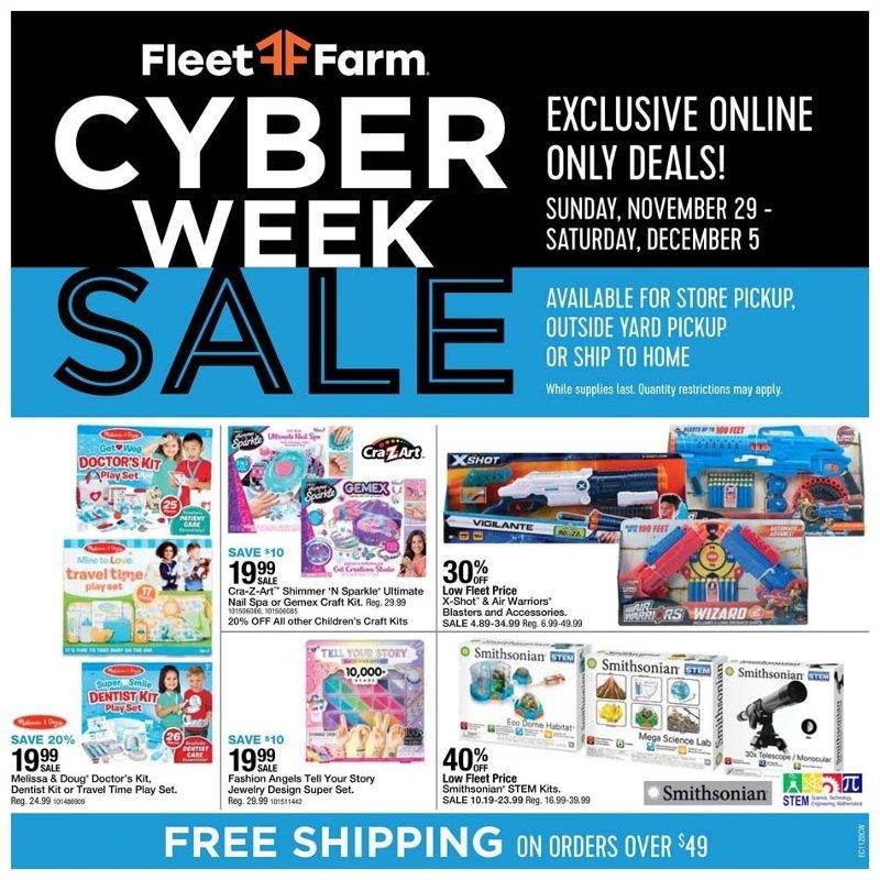 Fleet Farm Cyber Monday 2020 Page 1