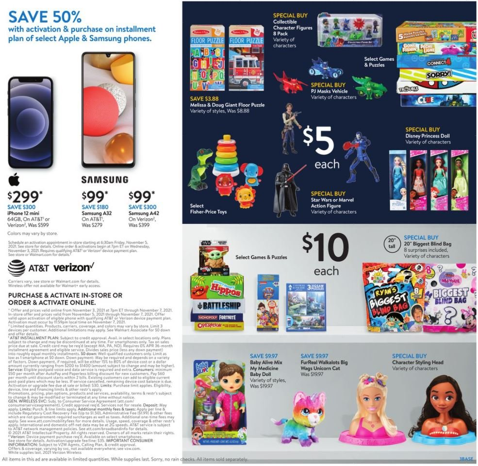 Walmart Black Friday November 3 - 7, 2021 Page 3