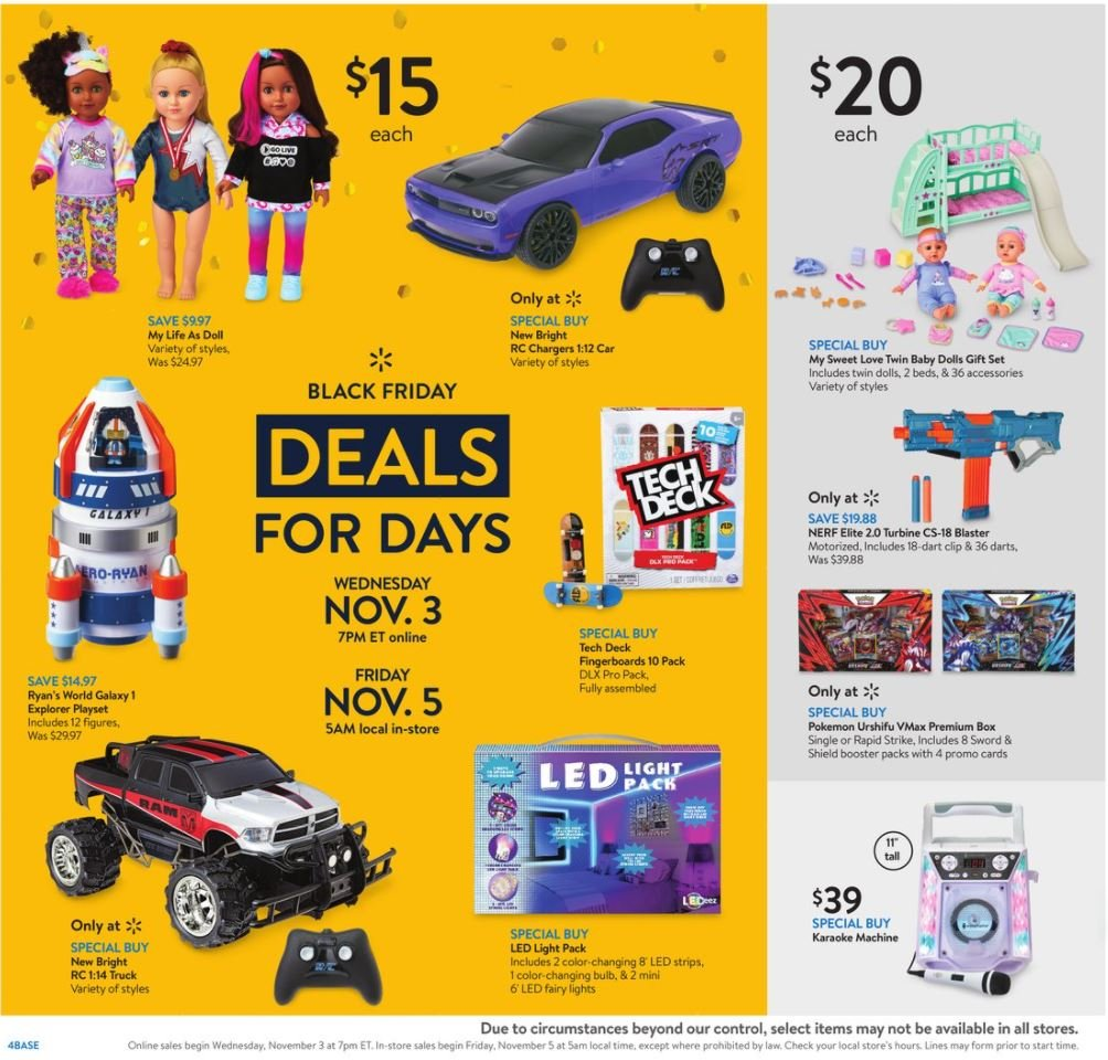 Walmart Black Friday November 3 - 7, 2021 Page 4