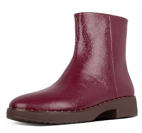 Mari Safferano Textured Patent Ankle Boots