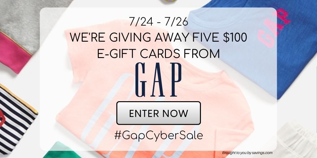 Win a $100 e-gift card from Gap.