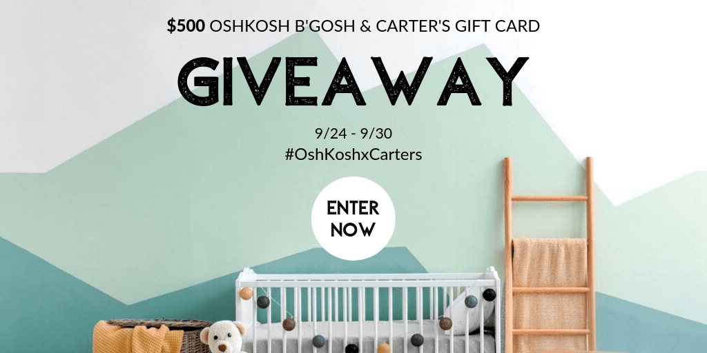 Win a $50 OshKosh B'Gosh or Carter's Gift Card!