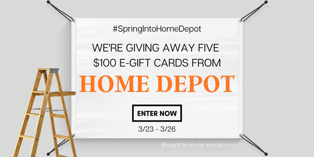 Win a $100 Home Depot e-gift card!