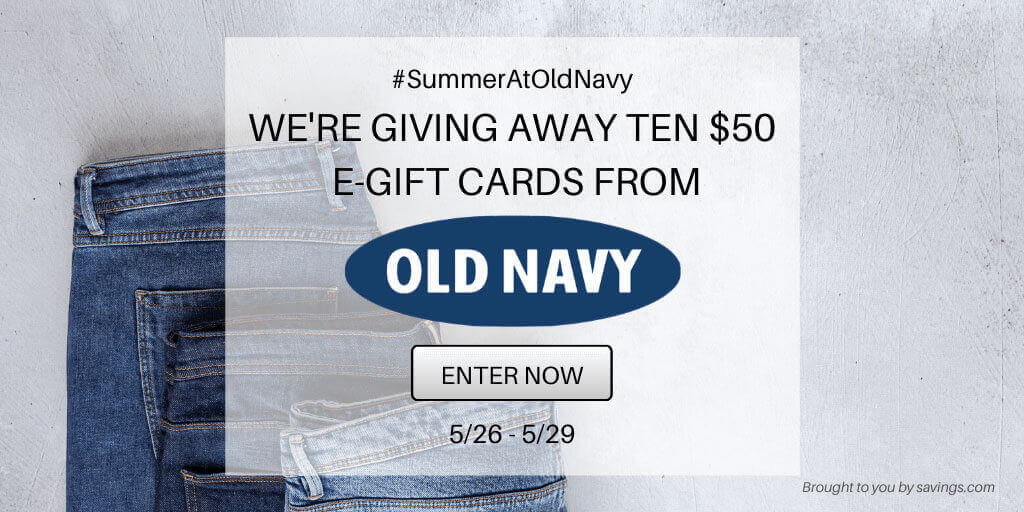 Win a $50 e-gift card from Old Navy!