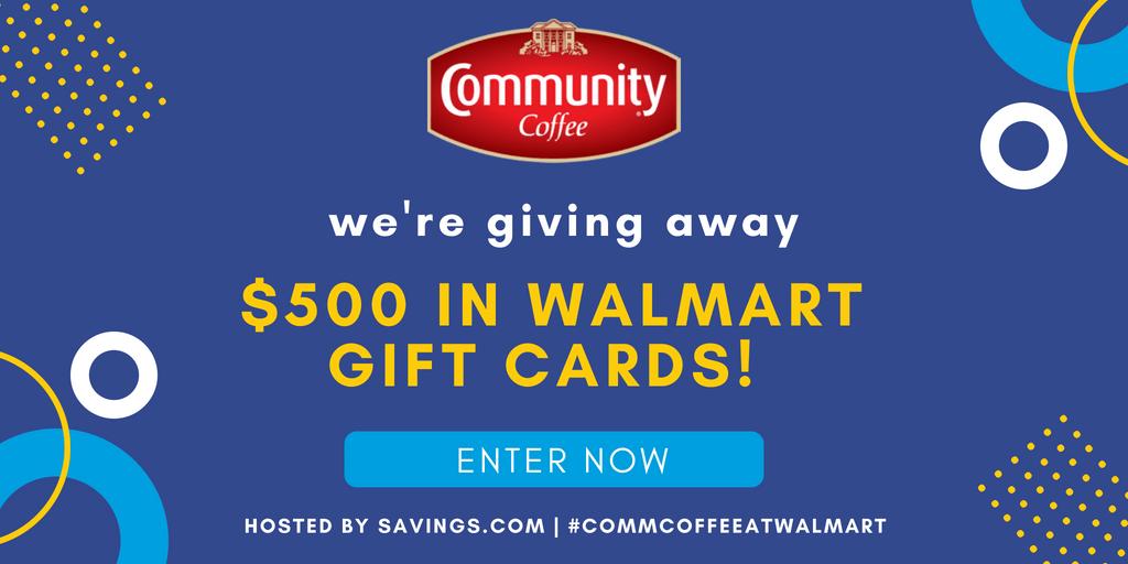 Community Coffee Coupon & $500 Walmart Giveaway