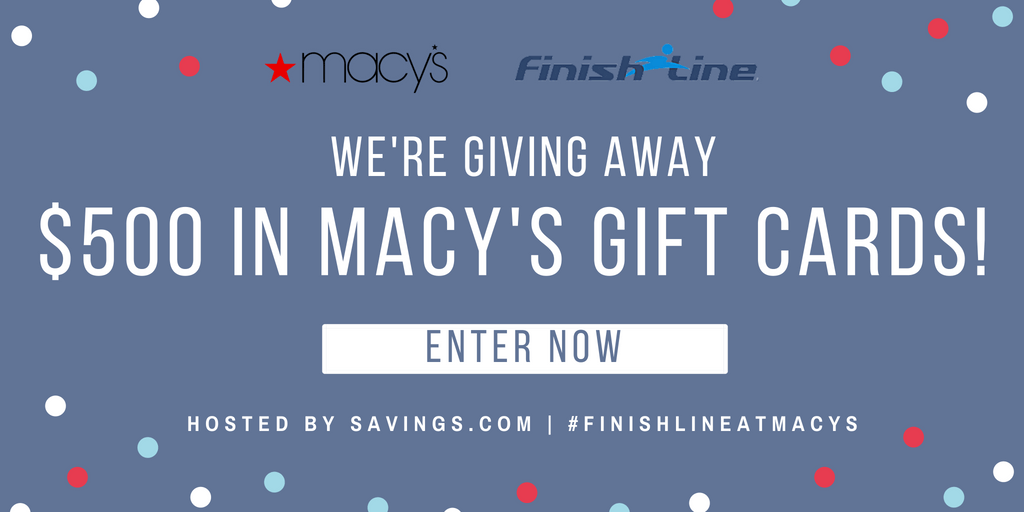 photo regarding Finish Line Printable Coupons called Complete Line Sale @ Macys as well as $500 within just Reward Playing cards Giveaway