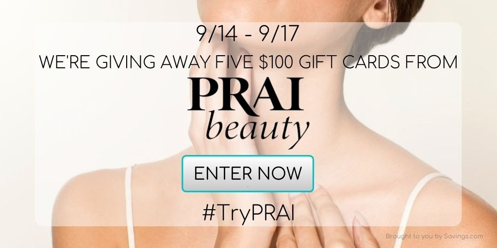 Win a $100 gift card from PRAI Beauty.