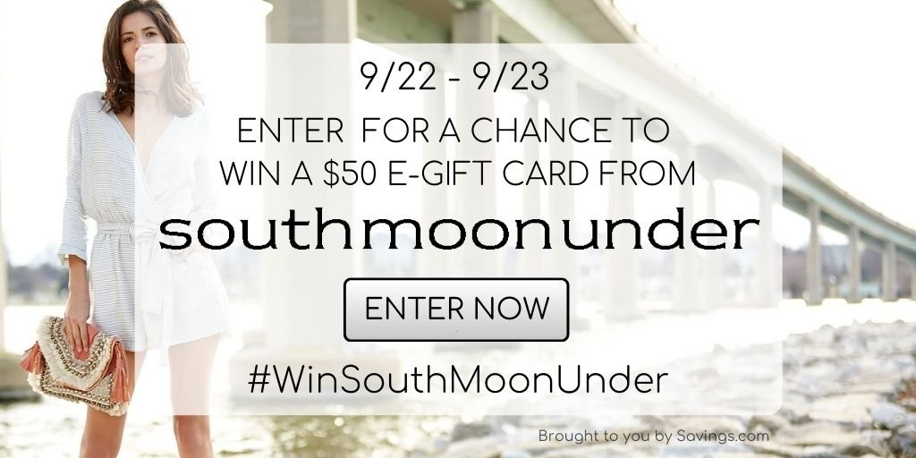 Win a $50 e-gift card from South Moon Under.