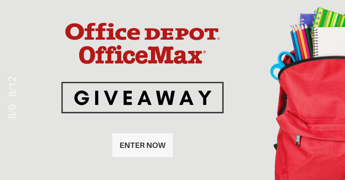 Enter for a chance to win a $100 e-gift card to spend at Office Depot Office Max!