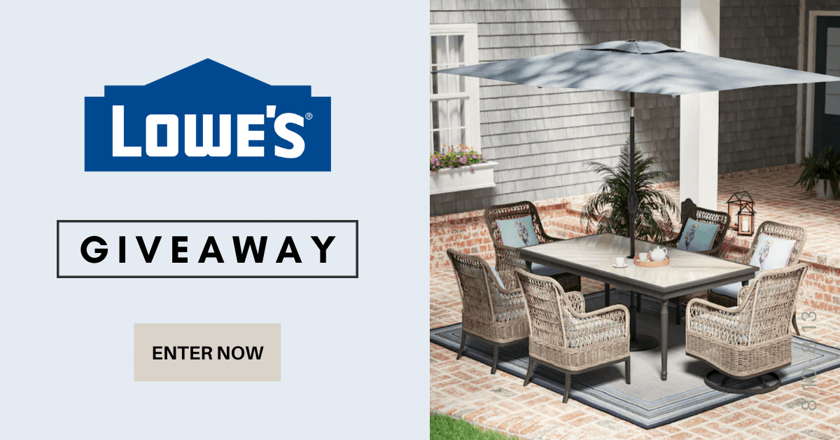Win a $250 e-gift card to spend at Lowe's!